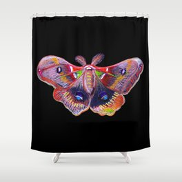 Glowy Moth Shower Curtain
