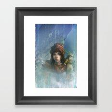 girl in the abyss  Framed Art Print
