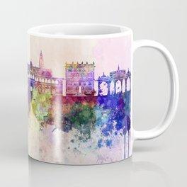 Pune skyline in watercolor background Coffee Mug