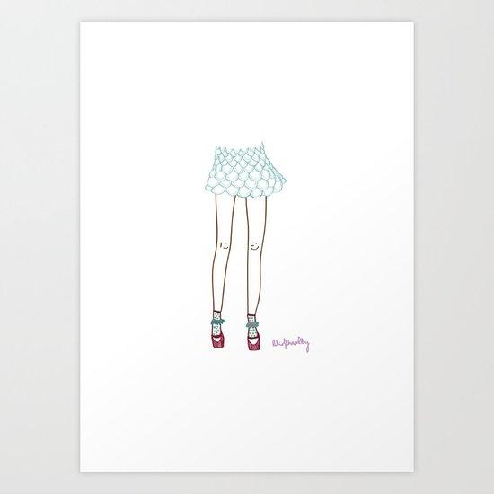 mermaid´s legs Art Print