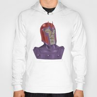 magneto Hoodies featuring Magneto by Matthew Bartlett