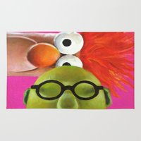 muppets Area & Throw Rugs featuring The Muppets - Bunsen and Beaker by Kristin Frenzel