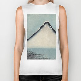 Hokusai, the blue fuji- hokusai,manga,japan,fuji, blue fuji,Shinto Biker Tank