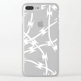 Barb Black Clear iPhone Case