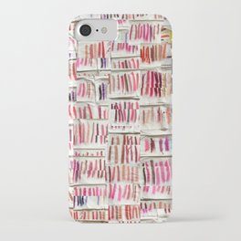 Lipstick Swatches iPhone Case