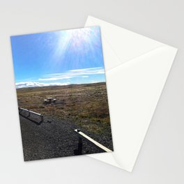 Rest Stop on Iceland's Golden Circle Panorama (1) Stationery Cards