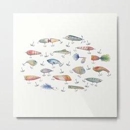 Fishing Lures Metal Print