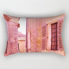 Ancient pink village Rectangular Pillow