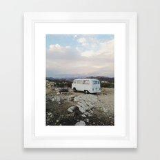 Desert Camper Bus Framed Art Print