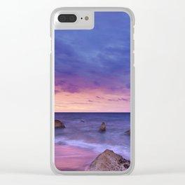 Ocean Beach Dusk Sunset Photography Clear iPhone Case