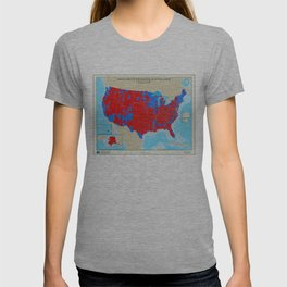 United States Presidential Election, results by county, November 6, 2008 T-shirt