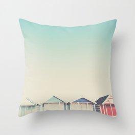 the beach hut ... Throw Pillow