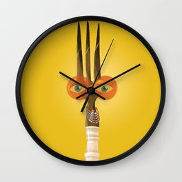Fork Mummy Wall Clock