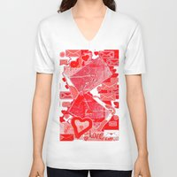 letters V-neck T-shirts featuring love letters by sladja