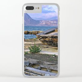 Old Port of Trapani on the Isle of Sicily Clear iPhone Case