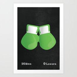 Super Punch Out!!! - Undefeated Art Print