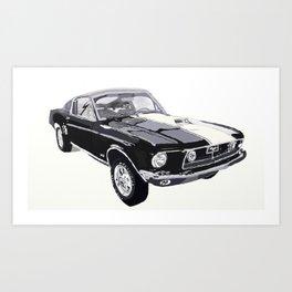 1968 Foulger-Mustang 428 Cobra Jet Fastback Art Print