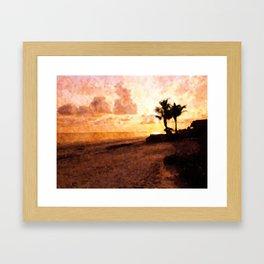 Tropical End Of Day Framed Art Print