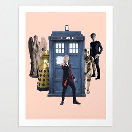Doctor Who & Enemies Art Print