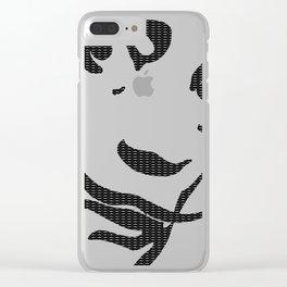 Dali's Mustache inside of Dali's Mustache (larger pattern) Clear iPhone Case