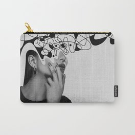 Abstraction - version 6. BW Carry-All Pouch