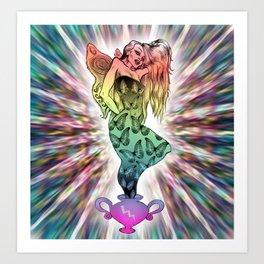 Rainbow Unicorn Nymph Art Print