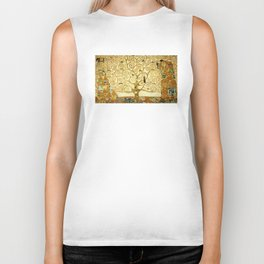 Gustav Klimt The Tree Of Life Biker Tank