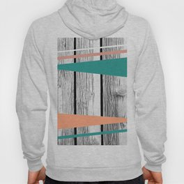 Colored arrows on wood Hoody