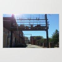 oklahoma Area & Throw Rugs featuring Oklahoma Ally by HmmCades