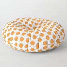 Orange Polka Dots Floor Pillow
