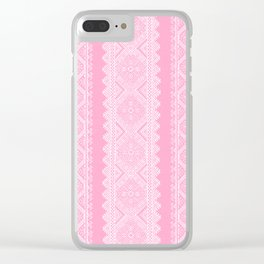 Ukrainian embroidery heavenly pink Clear iPhone Case