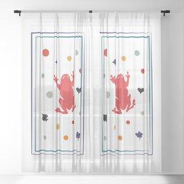 clown Sheer Curtain