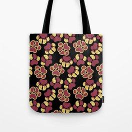Magenta Cute Paws Tote Bag