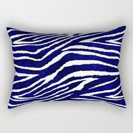 Animal Print: Zebra Blue and White Rectangular Pillow