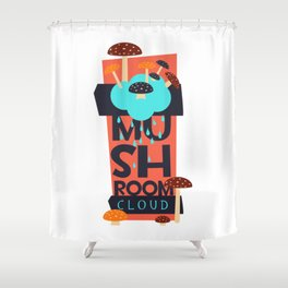 Mushroom Cloud  Shower Curtain