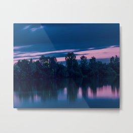 Dredging lake in Baden-Wurttemberg Metal Print
