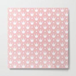 Cute Princess Tiara Pattern Metal Print