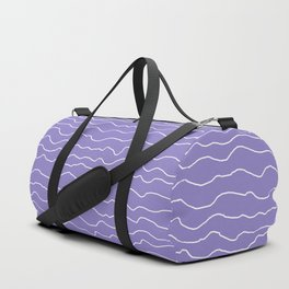 Lavender with White Squiggly Lines Duffle Bag