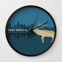 Michigan - Redesigning The States Series Wall Clock