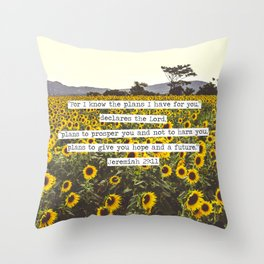 Jeremiah Sunflowers Throw Pillow