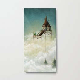 Far above the clouds Metal Print