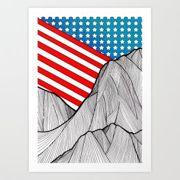 American Mounts Art Print
