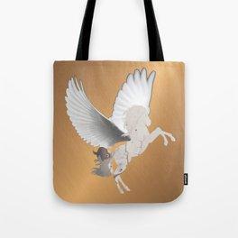 Abstract Digital Art White Pegasus Fantasy Magical Tote Bag