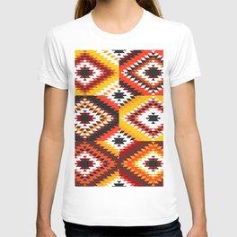 Colorful patchwork mosaic, oriental kilim rug T-shirt