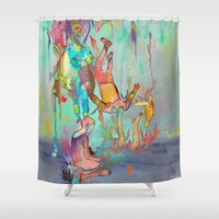 archan nair Shower Curtains featuring Soulipsism by Archan Nair
