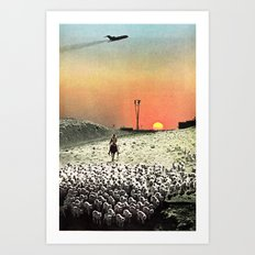 Sheep Flights For The Humdrum Jetset Art Print