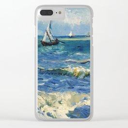Seascape near Les Saintes-Maries-de-la-Mer by Vincent van Gogh Clear iPhone Case