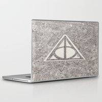 deathly hallows Laptop & iPad Skins featuring deathly hallows by Clara Lucie P