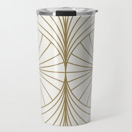 Diamond Series Inter Wave Gold on White Travel Mug