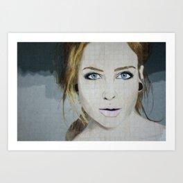 Anna April Portrait Art Print